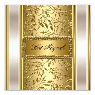 Invitation de bat mitzvah d'art déco d'or