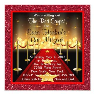 Invitation de bat mitzvah de Hollywood de tapis