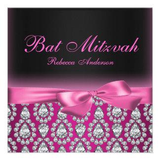 Invitation de bat mitzvah de roses indien de diama