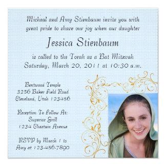 Invitation de bat mitzvah carton d'invitation  13,33 cm