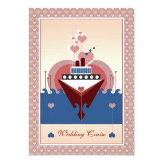 Invitation de bateau de coeur de croisière de