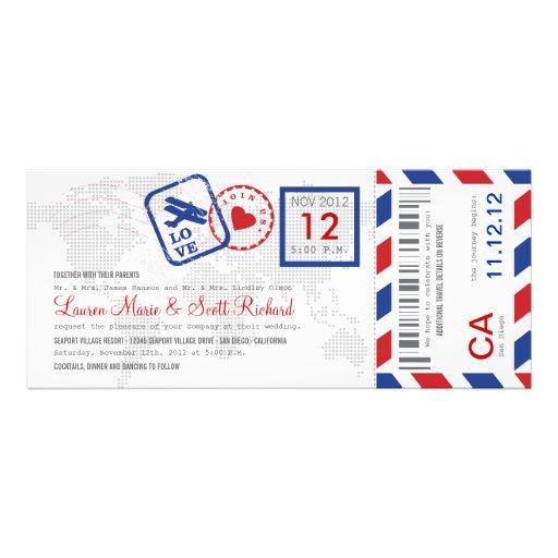 Invitation de billet de par avion de carte d'embar
