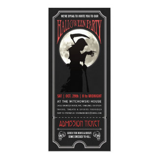 Invitation de billet de partie de Halloween