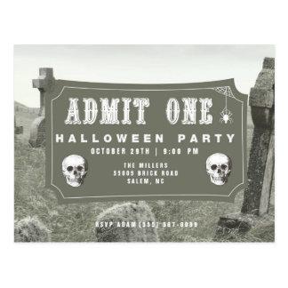 Invitation de billet de partie de Halloween de