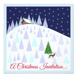 Invitation de boissons et de Canapes de Noël