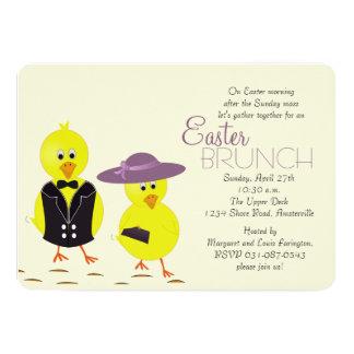 Invitation de brunch de matin de Pâques