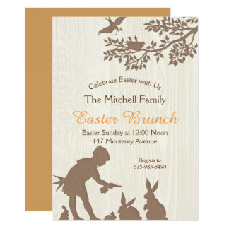 Invitation de brunch de Pâques
