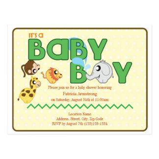 Invitation de carte postale de baby shower de