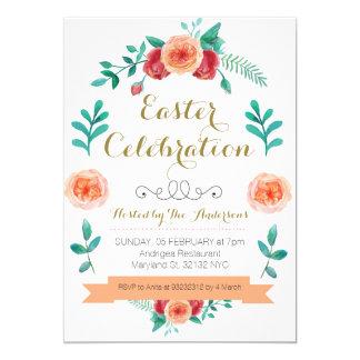 Invitation de célébration de Pâques de fleur