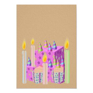 Invitation de célébration sur la texture acrylique