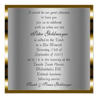 Invitation de cérémonie de Mitzvah de barre