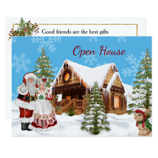 Invitation de Chambre ouverte de Noël avec le père