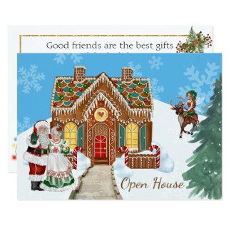 Invitation de Chambre ouverte de Noël avec Père