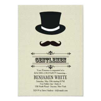 Invitation de chapeau supérieur et de moustache