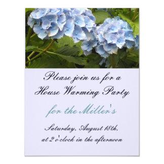 Invitation de chauffage de Chambre bleue élégante