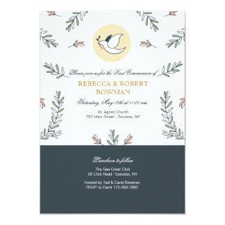 Invitation de colombe de communion