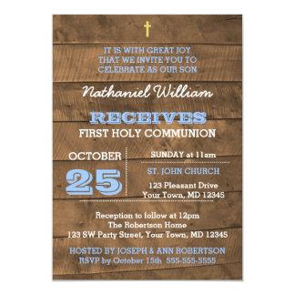 Invitation de communion de bleu de Barnwood