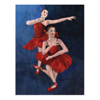Invitation de considérant de danse cartes postales