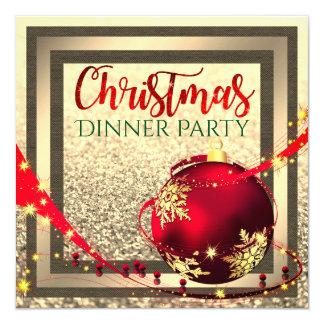 Invitation de dîner de Noël de cadre de parties