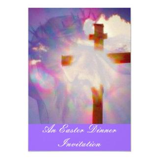 Invitation de dîner de Pâques - religieuse