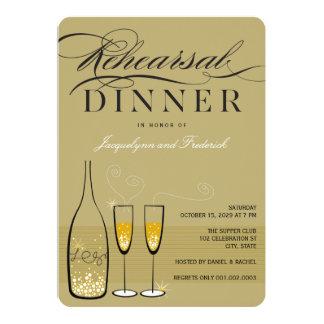 Invitation de dîner de répétition de Champagne