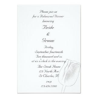 Invitation de dîner de répétition de mariage de