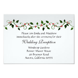 Invitation de directions de réception de mariage