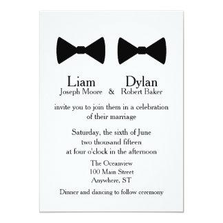 """Invitation de """"doubles cravates d'arc"""""""