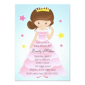 Invitation de douche de bébé de princesse Dress