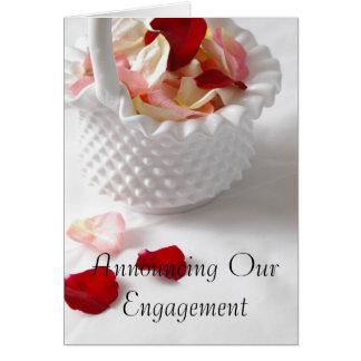 Invitation de douche de fiançailles carte de vœux
