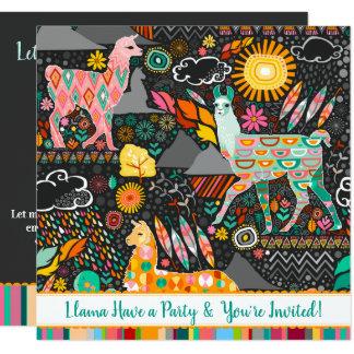 Invitation de fête colorée de partie de beaux