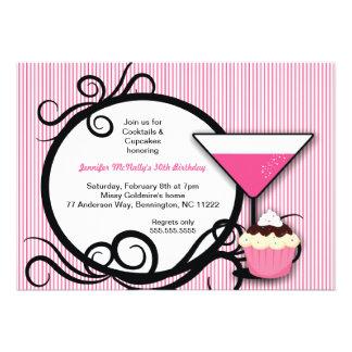 Invitation de fête d anniversaire de petits gâteau