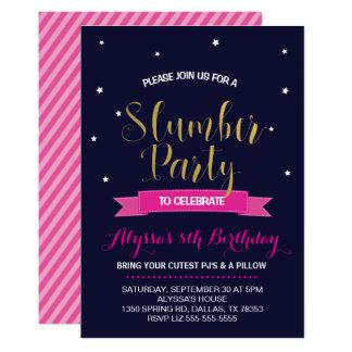 Invitation de fête d'anniversaire d'assoupissement