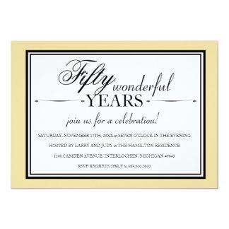 Invitation de fête d'anniversaire de 50 ans