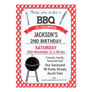 Invitation de fête d'anniversaire de BBQ