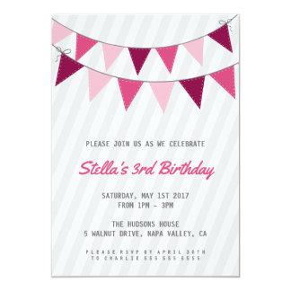 Invitation de fête d'anniversaire de fille