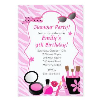 Invitation de fête d'anniversaire de fille de