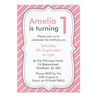 Invitation de fête d'anniversaire de filles