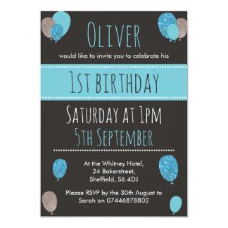 Invitation de fête d'anniversaire de garçons