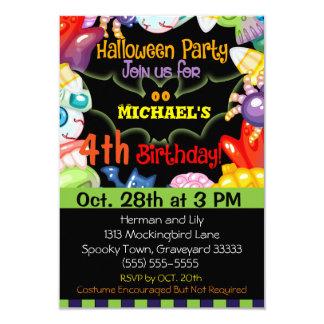 Invitation de fête d'anniversaire de Halloween