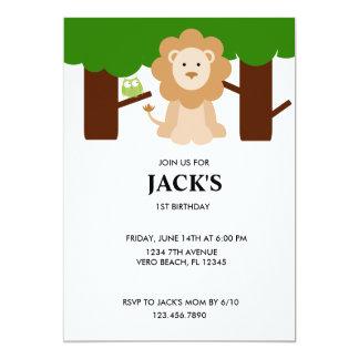 Invitation de fête d'anniversaire de jungle de