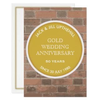 Invitation de fête d'anniversaire de mariage d'or