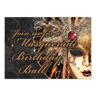 Invitation de fête d'anniversaire de mascarade de