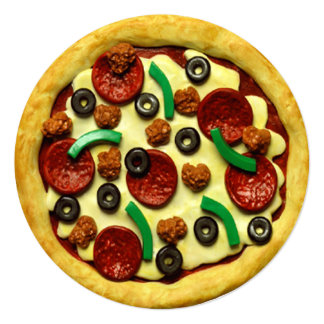 Invitation de fête d'anniversaire de pizza
