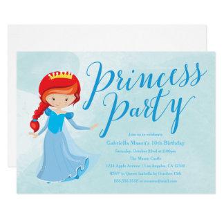 Invitation de fête d'anniversaire de princesse -