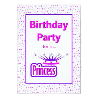 Invitation de fête d'anniversaire de princesse