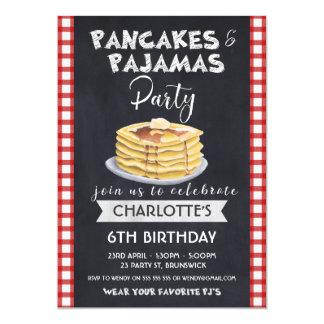 Invitation de fête d'anniversaire de pyjamas de