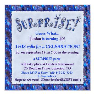 Cartons d 39 invitation anniversaire surprise faire part anniversaire surprise - Invitation anniversaire surprise ...