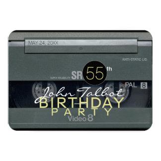 Invitation de fête d'anniversaire de VHS de