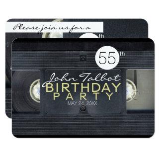 Invitation de fête d'anniversaire de VHS de la